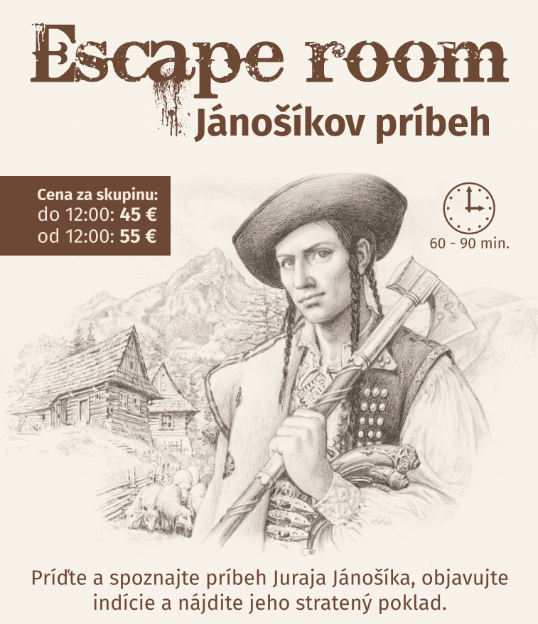 terchova escape room janosik